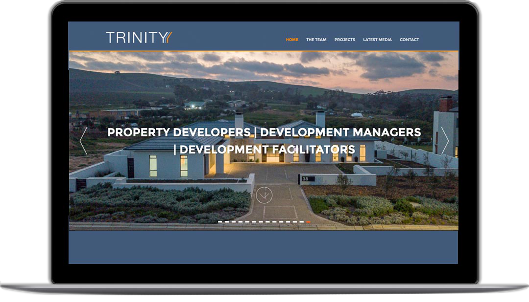 TRINITY webpage 2 - new home page