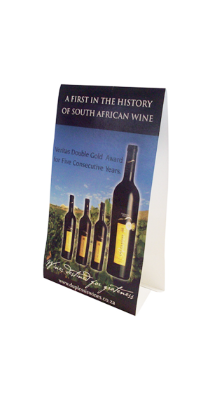 du plessis wines tent cards - WINE INDUSTRY