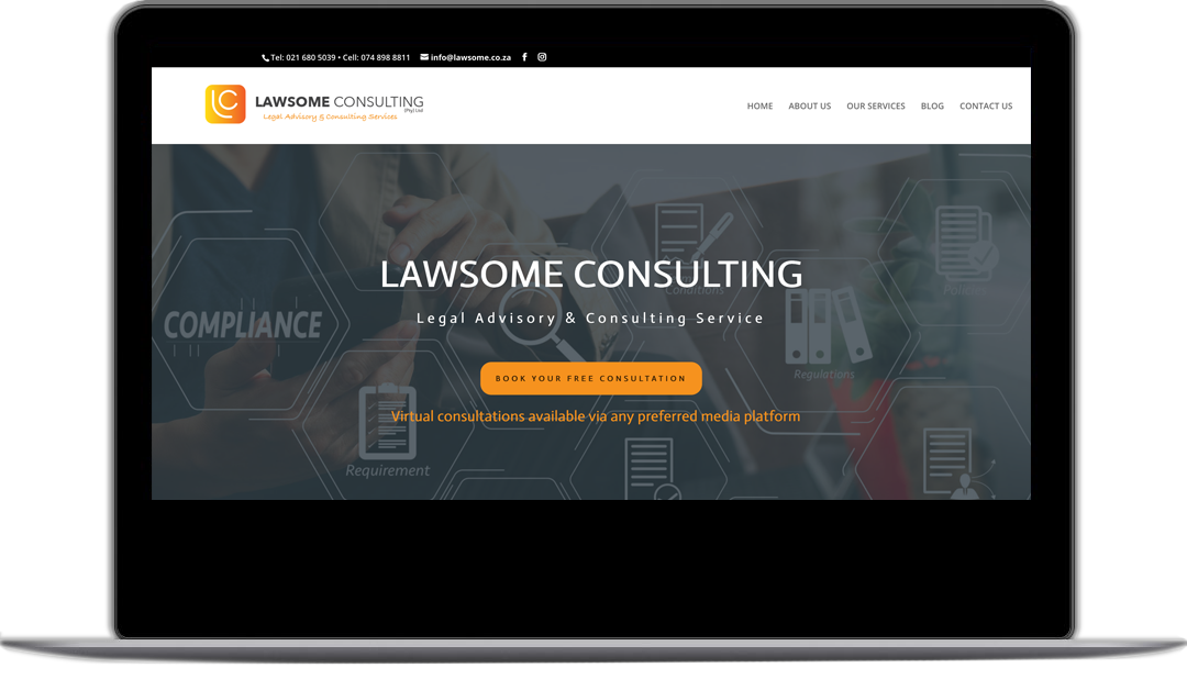 lawsome consulting webpage - WEBSITE DEVELOPMENT